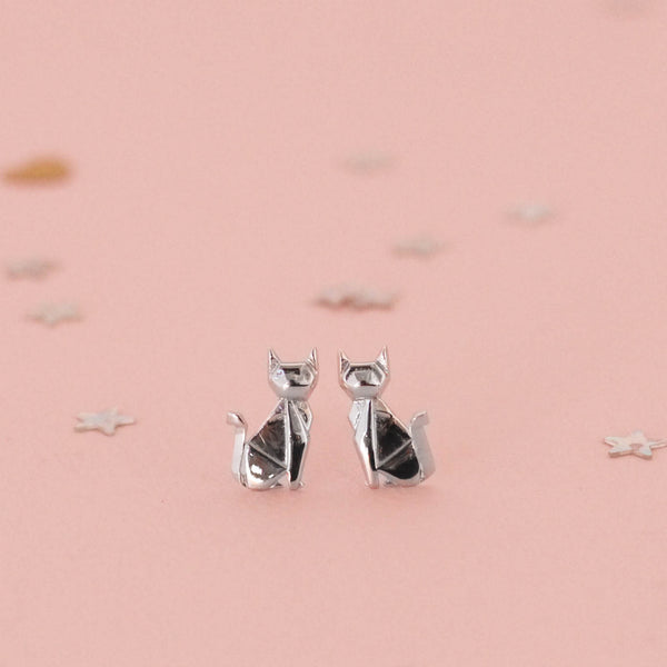 Bowerbird Australia - Siamese Cat - Stud Earrings