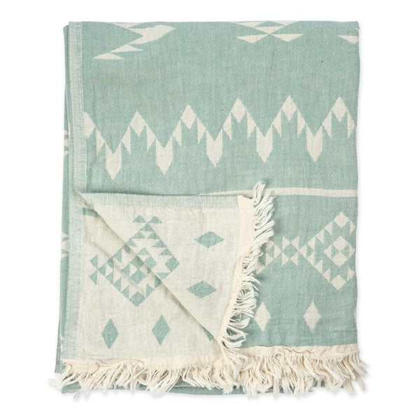 Châle / Serviette de bain turque, Atlas Turkish teal - Boutique Equinoxe