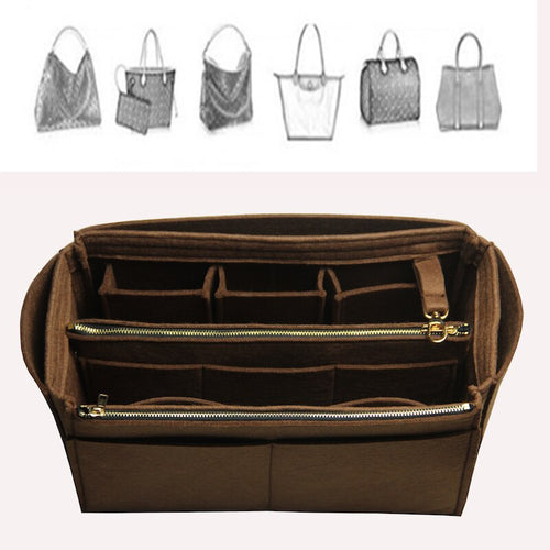 Neverfull Speedy Handbag Organizer Bag In Bag Tote Organizer (Detachable Zip Pocket)