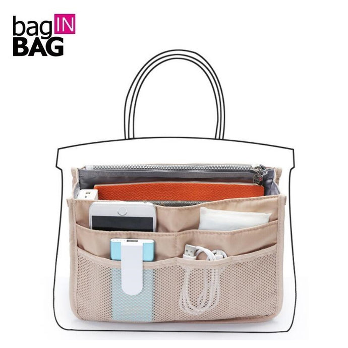 Bag in bag Zipper Nylon Travel Organizer