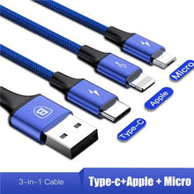 Load image into Gallery viewer, 3in1 2in1 Type-C Micro USB Cable Fast Charging 3A