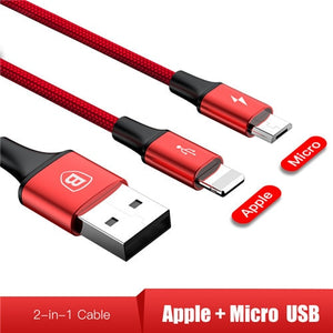 3in1 2in1 USB Type-C Micro USB Cable fast charging 3A 120cm