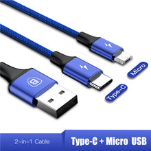 Load image into Gallery viewer, 3in1 2in1 USB Type-C Micro USB Cable fast charging 3A 120cm