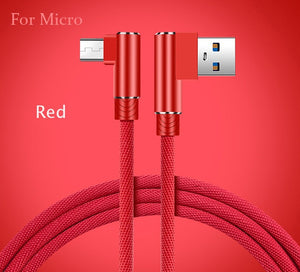 Micro USB Cable 2A Fast Charger 90 degrees