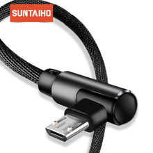Load image into Gallery viewer, Micro USB Cable 2A Fast Charger 90 degrees