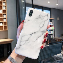 Load image into Gallery viewer, iPhone Case | TPU Marble Look 7 XS MAX 6 6S 7 8 X XR