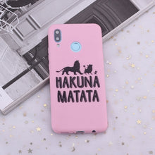 Load image into Gallery viewer, Huawei Honor Phone Case |  Hakuna Matata Lion King Candy Silicone