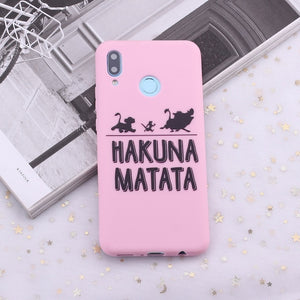 Huawei Honor Phone Case |  Hakuna Matata Lion King Candy Silicone
