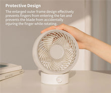 Load image into Gallery viewer, Portable Mini Air Circulation Fan 330 Strong Wind Power USB Charging Low Noise High Wind White and Pink