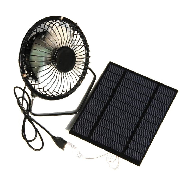 NEW-2.5W 5V Solar Powered Panel Iron Fan