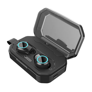 QCR Wireless Earphones | Stereo Waterproof 3300mAh LED Smart Power Bank