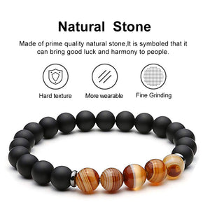 Balancing Hematite & Protection Agate Bracelets