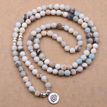 Load image into Gallery viewer, Amazonite Lotus Mala