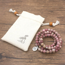 Load image into Gallery viewer, Rhodonite Lotus Mala