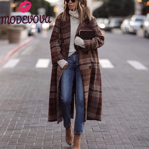 12 Fall Winter Long Loose Coat for Women