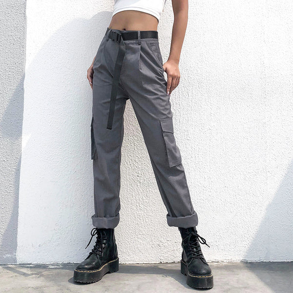 2020 Streetwearlooks  Trendy Solid Color Loose Trousers