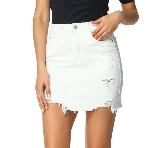 2020 Summer Denim Slim Skirt Outfits