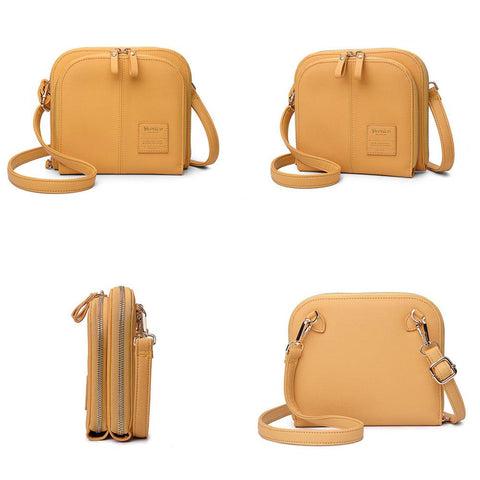 Women Classic Solid Color Crossbody Shoulder Bag