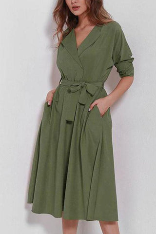Explosive Suede Long Sleeve Dress