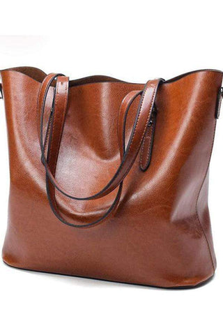 Fashion Women Handbag PU Oil Wax Leather Women Bag