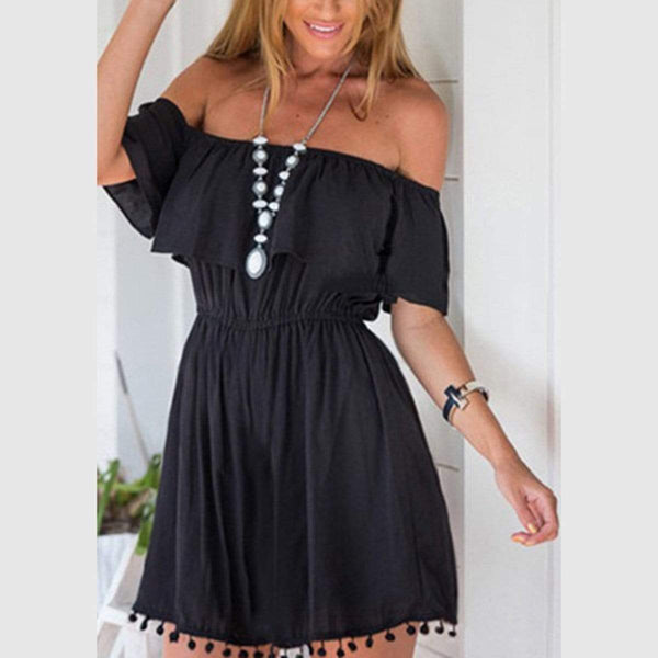 Sexy Elegant Off Shoulder Mini Dress