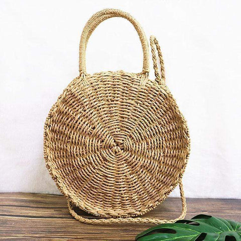 modevova Fashion Circular Straw Bag
