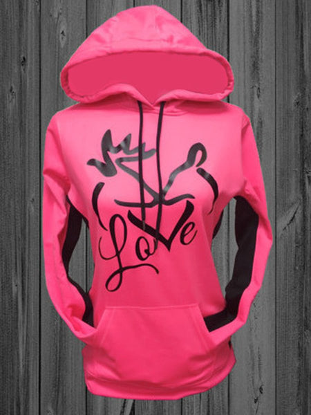 Love Deer Printed Hunting Season Halloween Hoodies
