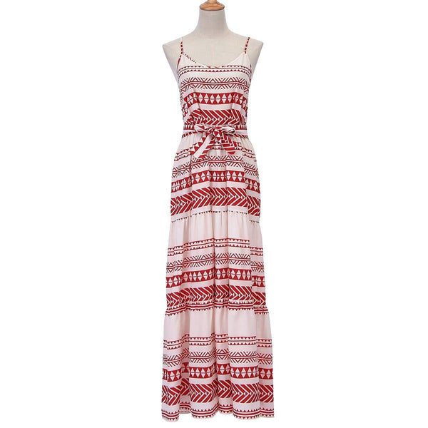 Gorgeous Cotton And Linen Bohemian Floral Printed Vacation Dress