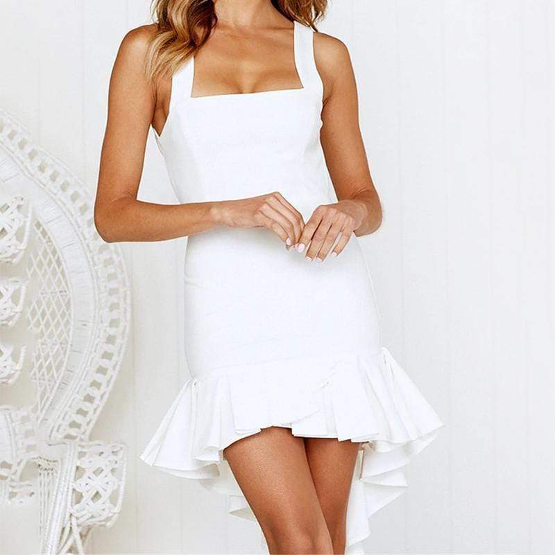 Casual Sling Sleeveless Pure Colour Mini Dresses