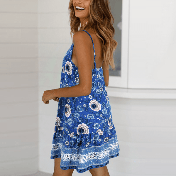 Bohemia Style Printed Loose Vacation Dress
