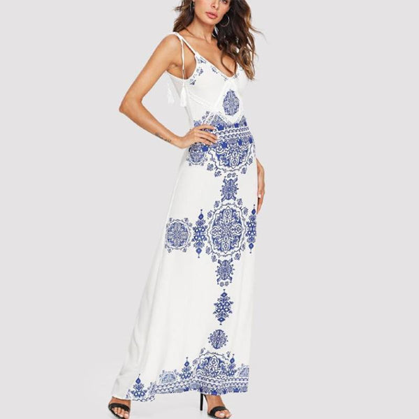 Sexy Fashion Printing Sling Dress
