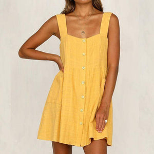 Fashion Sexy Solid Color Sling Dress