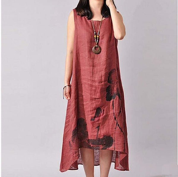Chinoiserie  Ink Painting  Art Loose Skirt