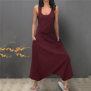 Sexy Straps Pure Color Casual Dresses