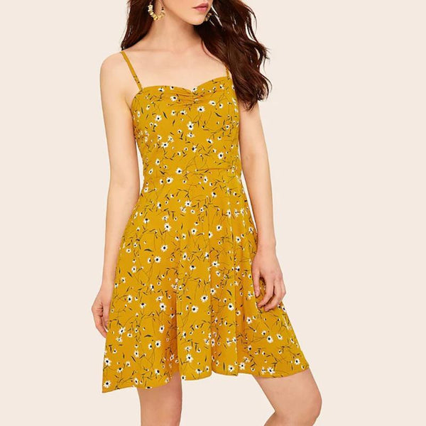 Women's Floral Fresh Sling Dress