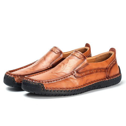 Casual Leather Large Size Low Leather Shoes