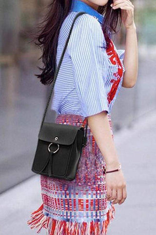 Fashion One Shoulder Slanted Across A Mini   Upright Pocket For Pocket Change
