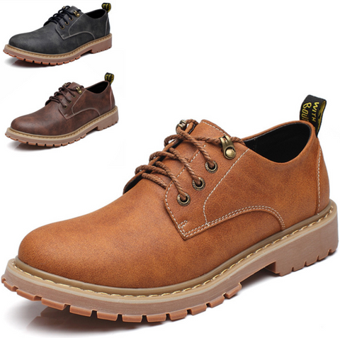 Autumn and winter low to help big heads shoes non-slip tooling shoes