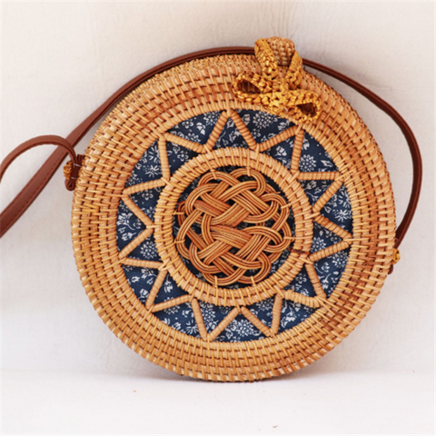 Ethnic Handmade Women¡¯s Straw Shoulder Bag