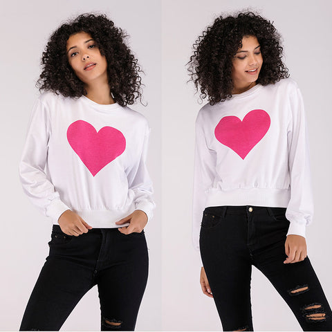 2020 Autumn long sleeve red heart  women's sweater