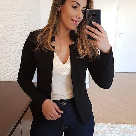 Black Blazer Autumn Blaser Ladies Long Sleeve Blazer Women Suit Jacket Female Feminine Blazer Femme Red White