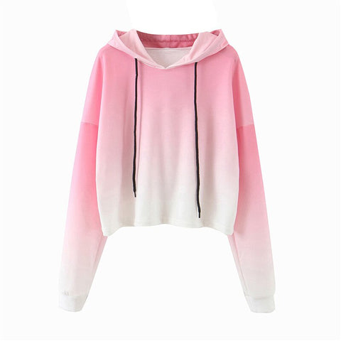 Casual streetwear  ladies tie dye autumn winter sweatshirt loose pink pullover sweatshirt
