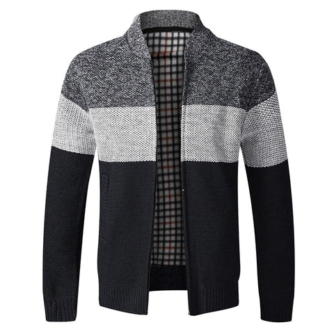 Classic Men Autumn Sweater Coat Thick Casual Sweater Cardigan Men Brand Slim Fit Knitwear Outerwear Warm Knitted Sweater Jacket