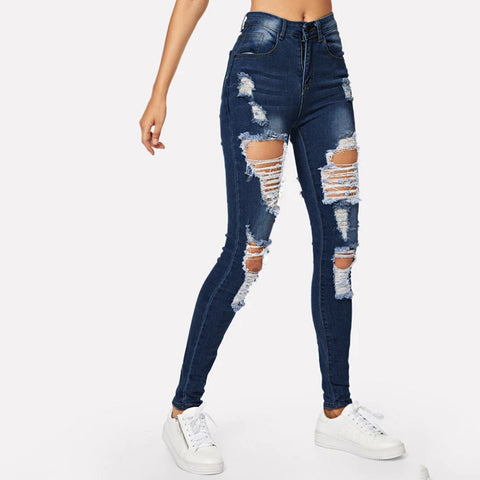 Jeans for Women mom Jeans High Waist Jeans Woman High Elastic plus size Stretch Jeans female washed denim skinny pencil Jeans