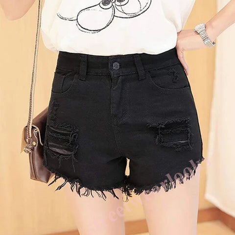 Shredded Irregular Sexy Wild Denim Shorts