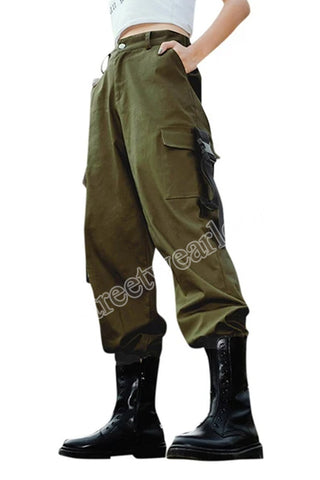 Streetwearlooks High Waist Hip-Pop Combat Cargo Leggings Trouser