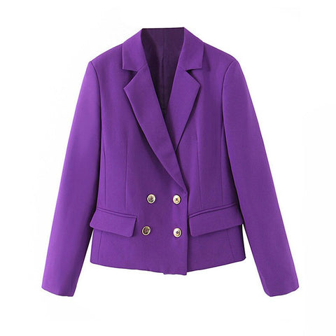 Stylish Chic long sleeve women short blazer outwear tops