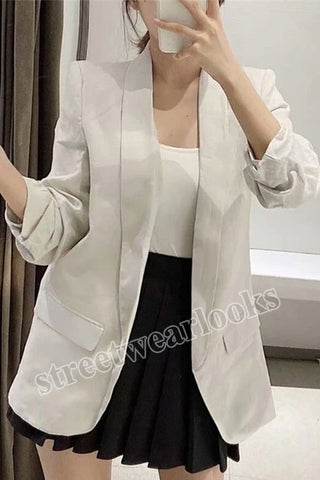 Women Blazer 2020 Formal Blazers Lady Office Work Suit Pockets Jackets