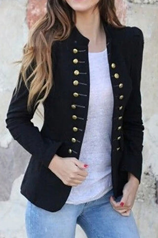 Women Vintage Jacket Slim Fit Gothic Party Steampunk Jacket Outwear