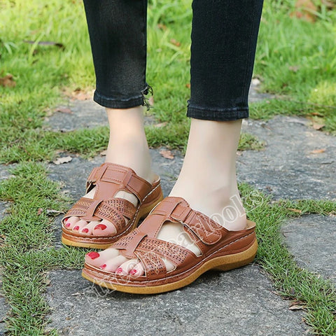 Women's Sandals  Non-slip Thick Sohes outside Wearing Beach Shoes